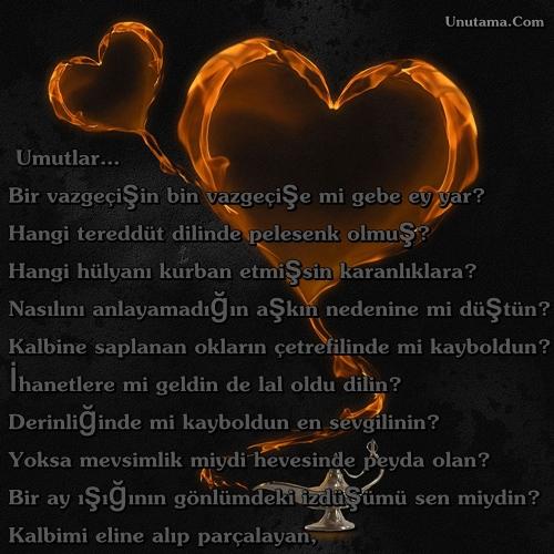 Sorulmayan Sorulara İnat, Verilen Cevabım. Hamım. Aşkta Kavrulanım. Ve…  Ben; Senin Gözyaşınım!...